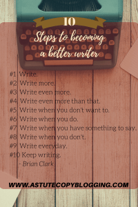 steps to becoming a better writer