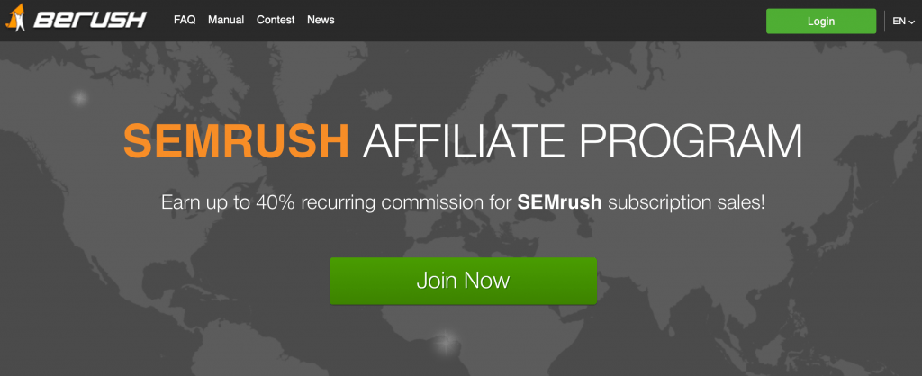 SEMrush (BeRush) affiliate program. The best recurring affiliate programs 2019. The top residual income affiliate programs. The best recurring affiliate products. The top lifetime affiliate programs. The best affiliate programs for beginners. The best affiliate programs to make money