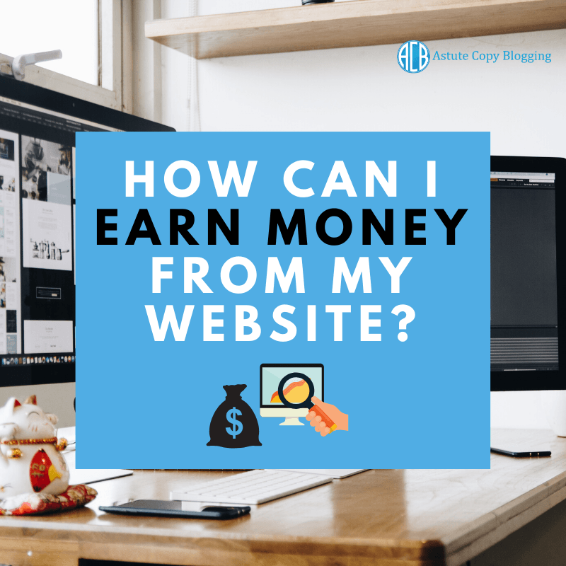 How can I earn money from my website