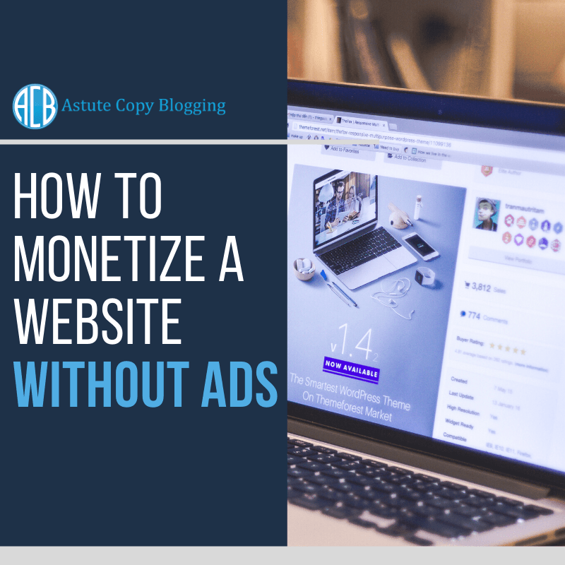How to monetize a website without ads