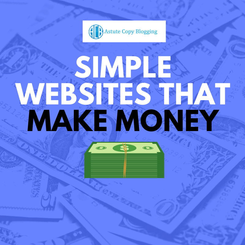 Simple websites that make money