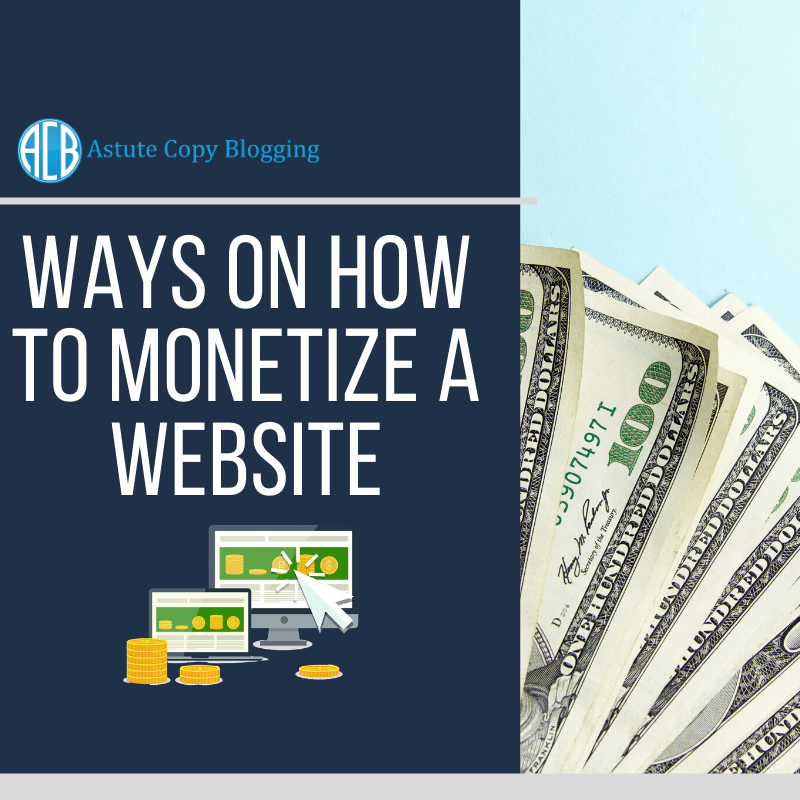 Ways on how to monetize website