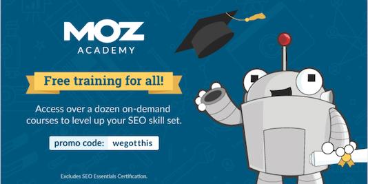 moz academy - seo certification