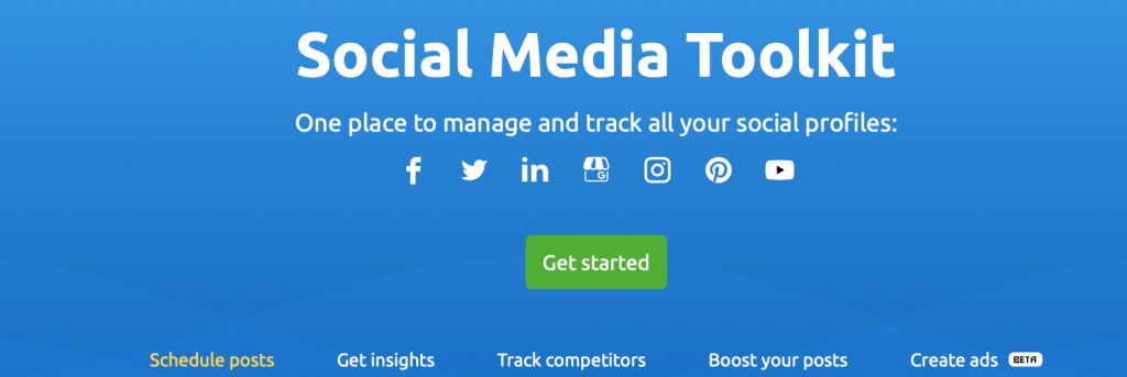 blog seo - semrush social media tookit