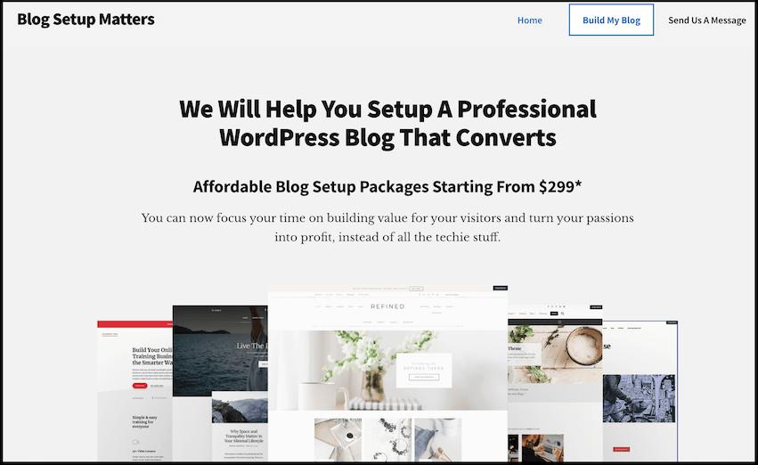 blog setup matters