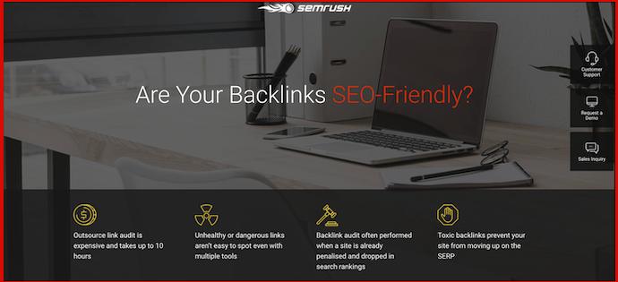 semrush - are your backlinks seo friendly