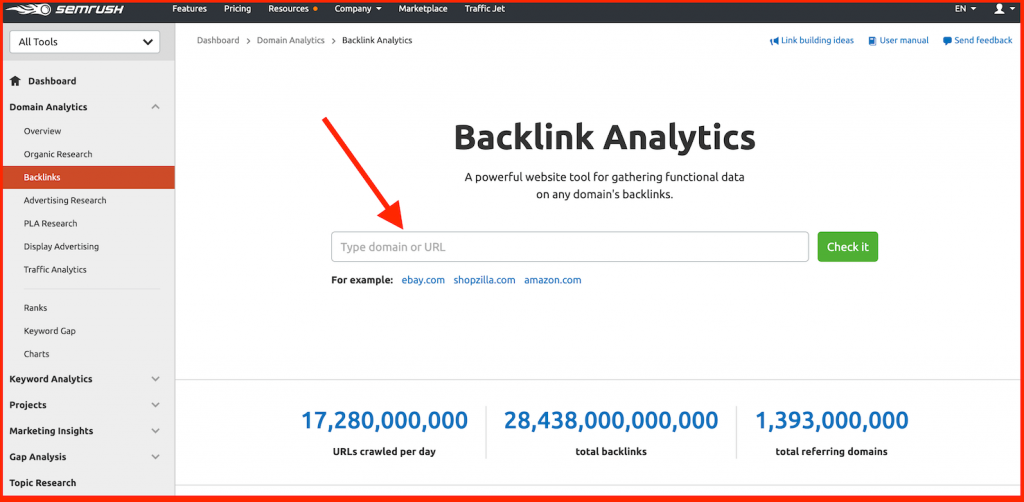 semrush backlink analytics - semrush vs ahrefs