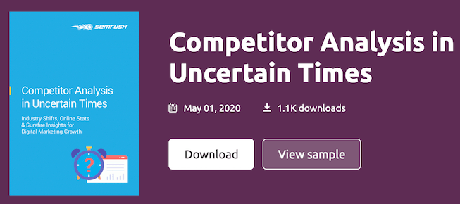 semrush free competitor analysis ebook
