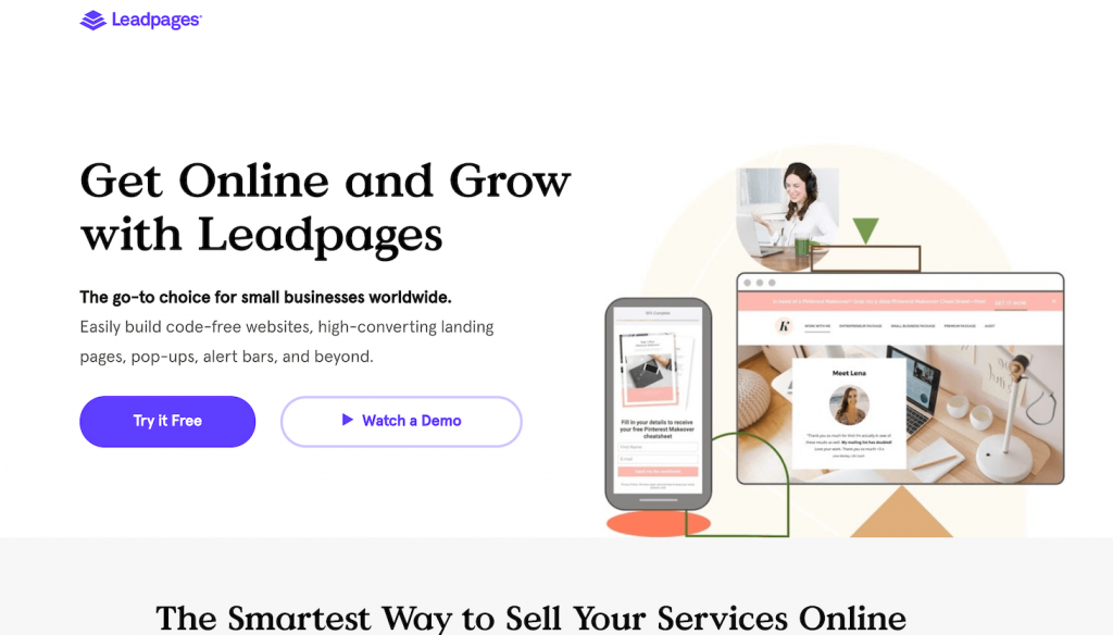 leadpages - best sales funnel builders