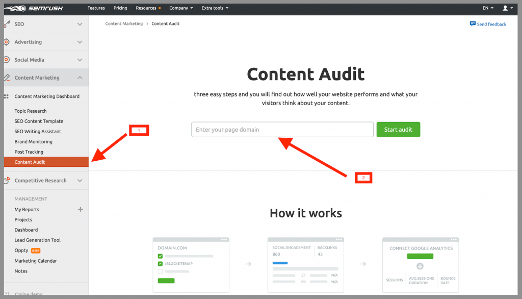 semrush-content-marketing-platform-content-audit-tool
