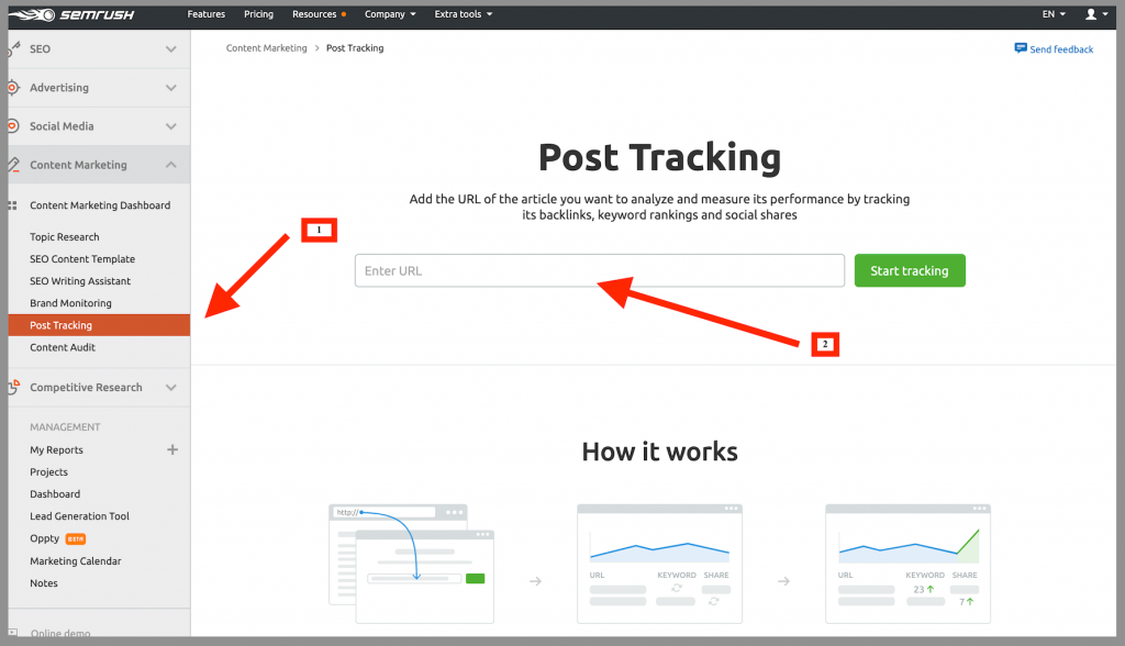 semrush-content-marketing-platform-post-tracking-tool