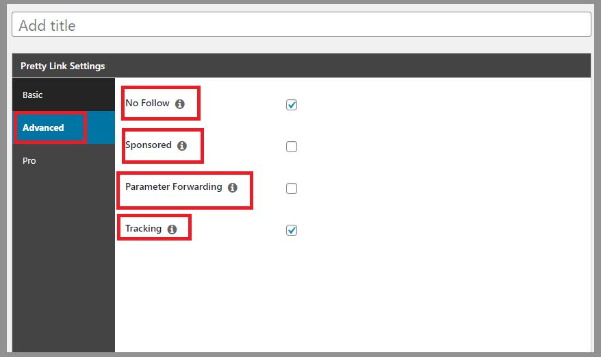 18 pretty links settings 3