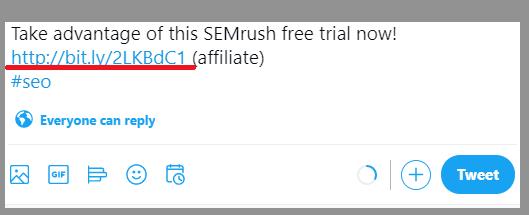 19 shortened link twitter