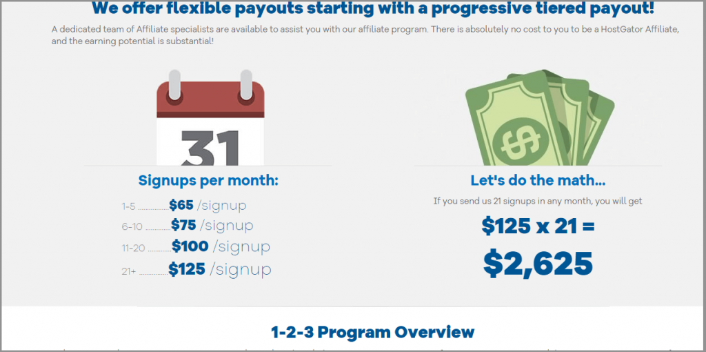 27 hostgator tiered commission structure wordpress affiliate programs