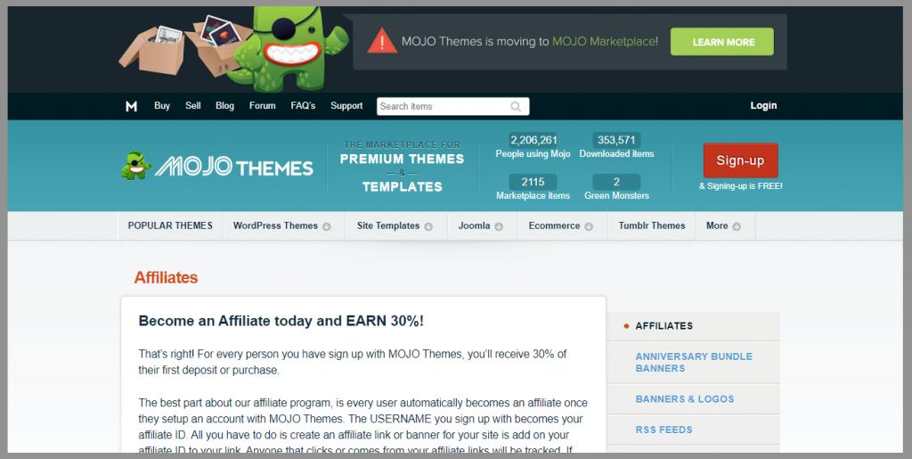 44 mojo themes affiliate program wordpress affiliate programs
