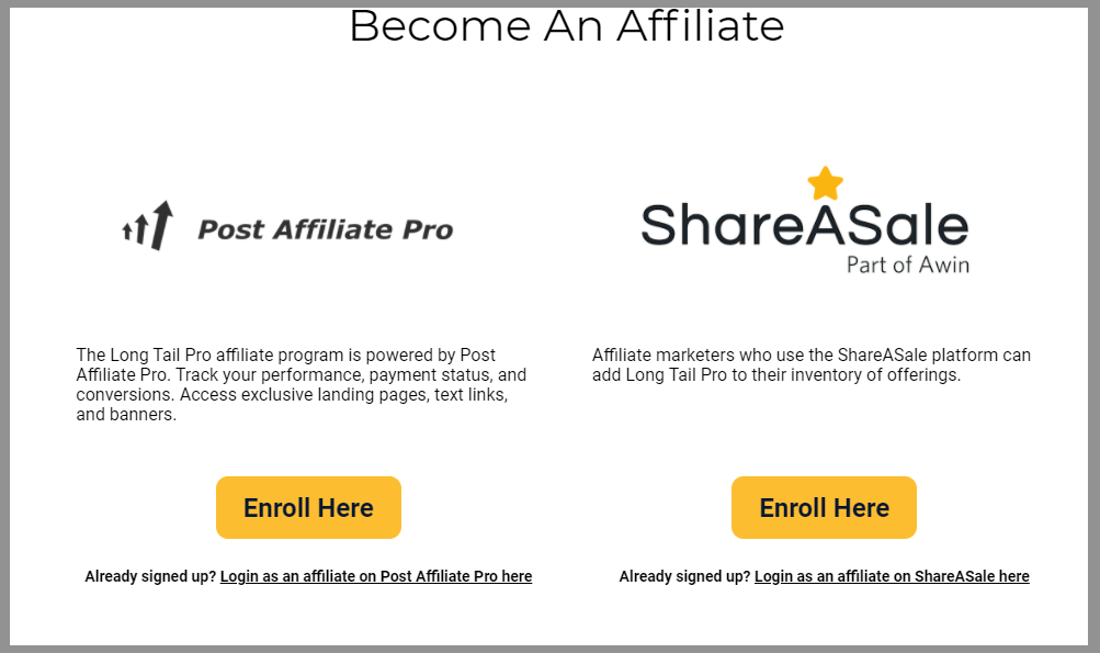 56 long tail pro affiliate hosted two platforms wordpress affiliate programs