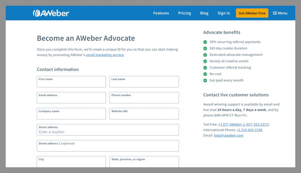 Aweber-best-recurring-affiliate-programs