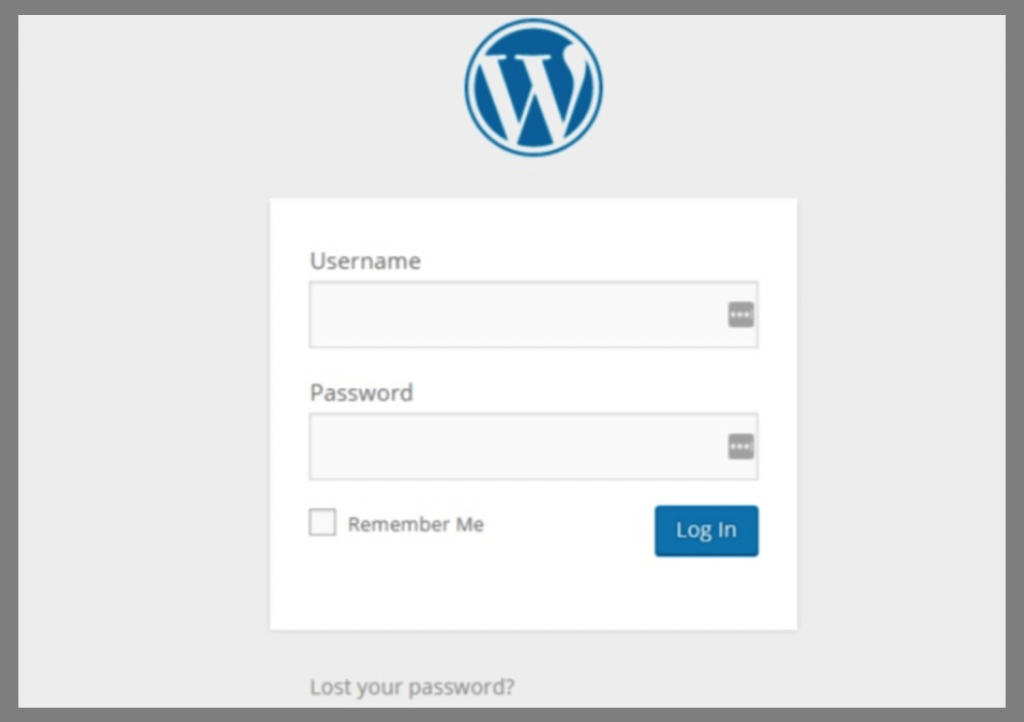 Wordpress SIgn Up Page