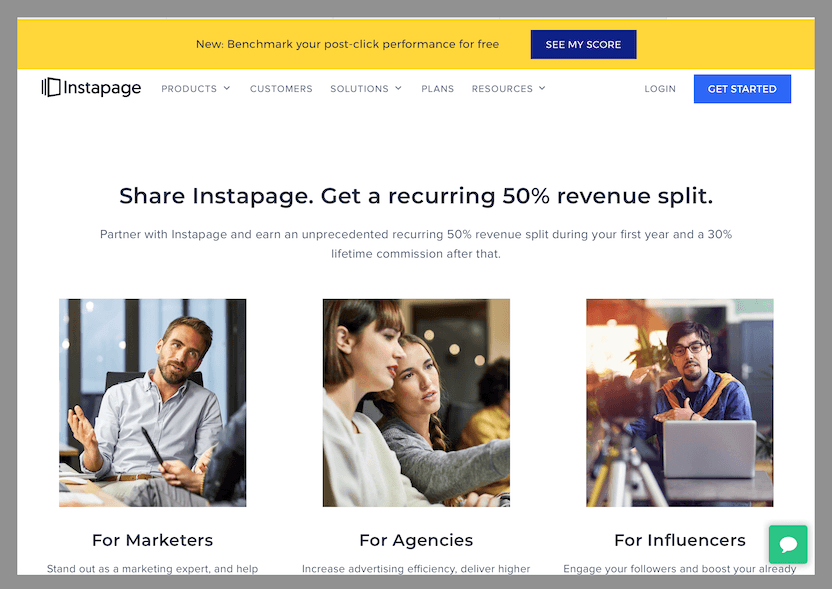instapage-best-affiliate-program-with-recurring-commissions