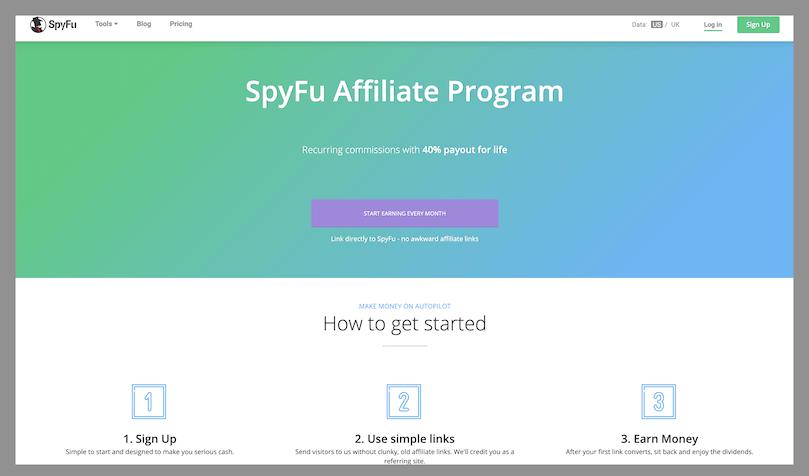 spyfu the best recurring affiliate program