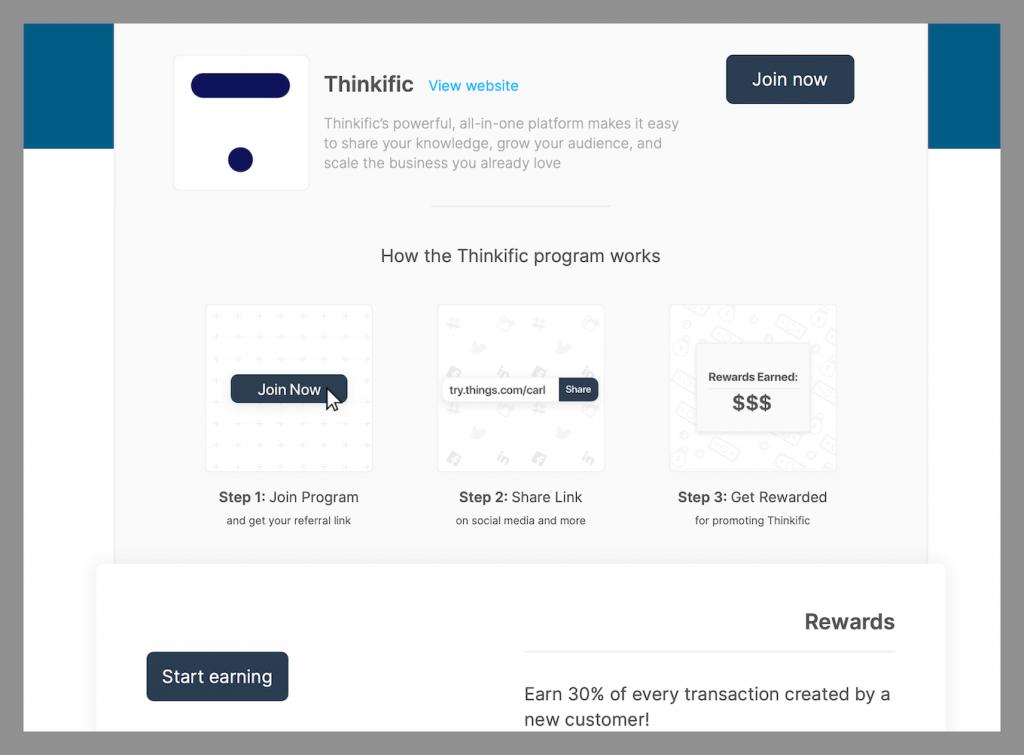 thinkific-recurring-affiliate-program