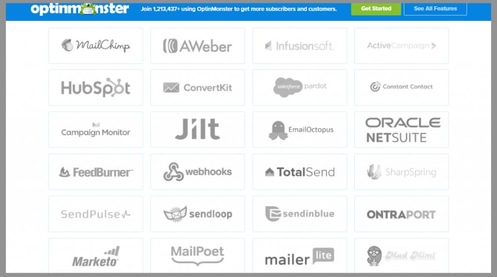 optinmonster-integrations-optinmonster-review-best-lead-generation-tool