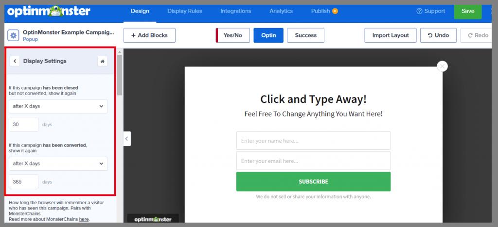21 display settings optinmonster optinmonster review best lead generation tool