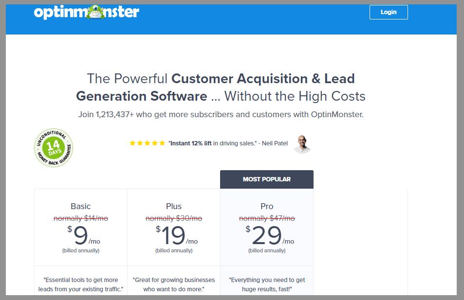 3 optinmonster pricing optinmonster review best lead generation tool