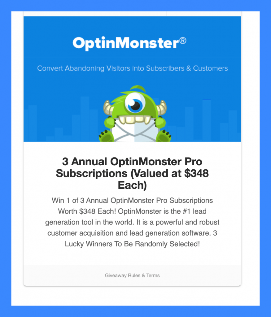 Optinmonster-giveaway-win-one-of-three-subscriptions